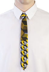 African Print Skinny Tie-Labyrinth - OHEMA OHENE AFRICAN INSPIRED FASHION