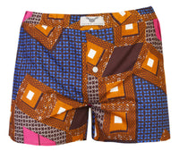 Men's 2 Pack African Print Boxer Shorts- Pixels - OHEMA OHENE AFRICAN INSPIRED FASHION  - 3