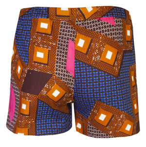 Men's 2 Pack African Print Boxer Shorts- Pixels - OHEMA OHENE AFRICAN INSPIRED FASHION  - 4