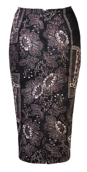 Abi-midi skirt 'baroque' - OHEMA OHENE AFRICAN INSPIRED FASHION  - 2