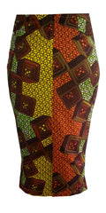 African Print Midi Length Skirt -Texx - OHEMA OHENE AFRICAN INSPIRED FASHION  - 2
