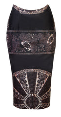 Abi-midi skirt 'baroque' - OHEMA OHENE AFRICAN INSPIRED FASHION  - 1