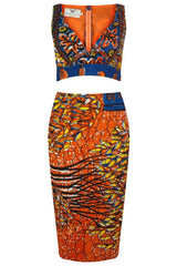 'Odor' Patterned Two piece Co-Ord dress - OHEMA OHENE AFRICAN INSPIRED FASHION  - 1