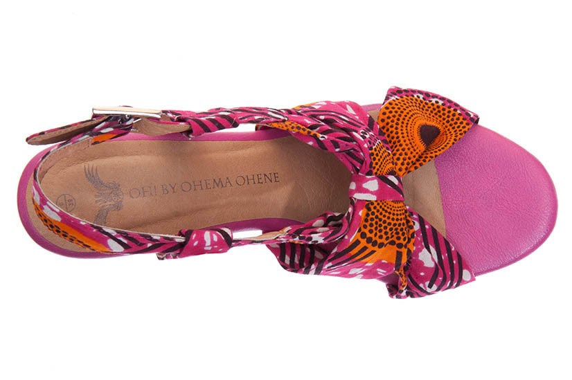 African Print sandal shoe wedge P