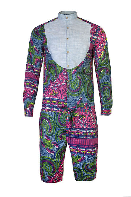 Alex Men's onesie - OHEMA OHENE AFRICAN INSPIRED FASHION  - 3