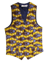 'Azzme' Men's waistcoat - OHEMA OHENE AFRICAN INSPIRED FASHION  - 1
