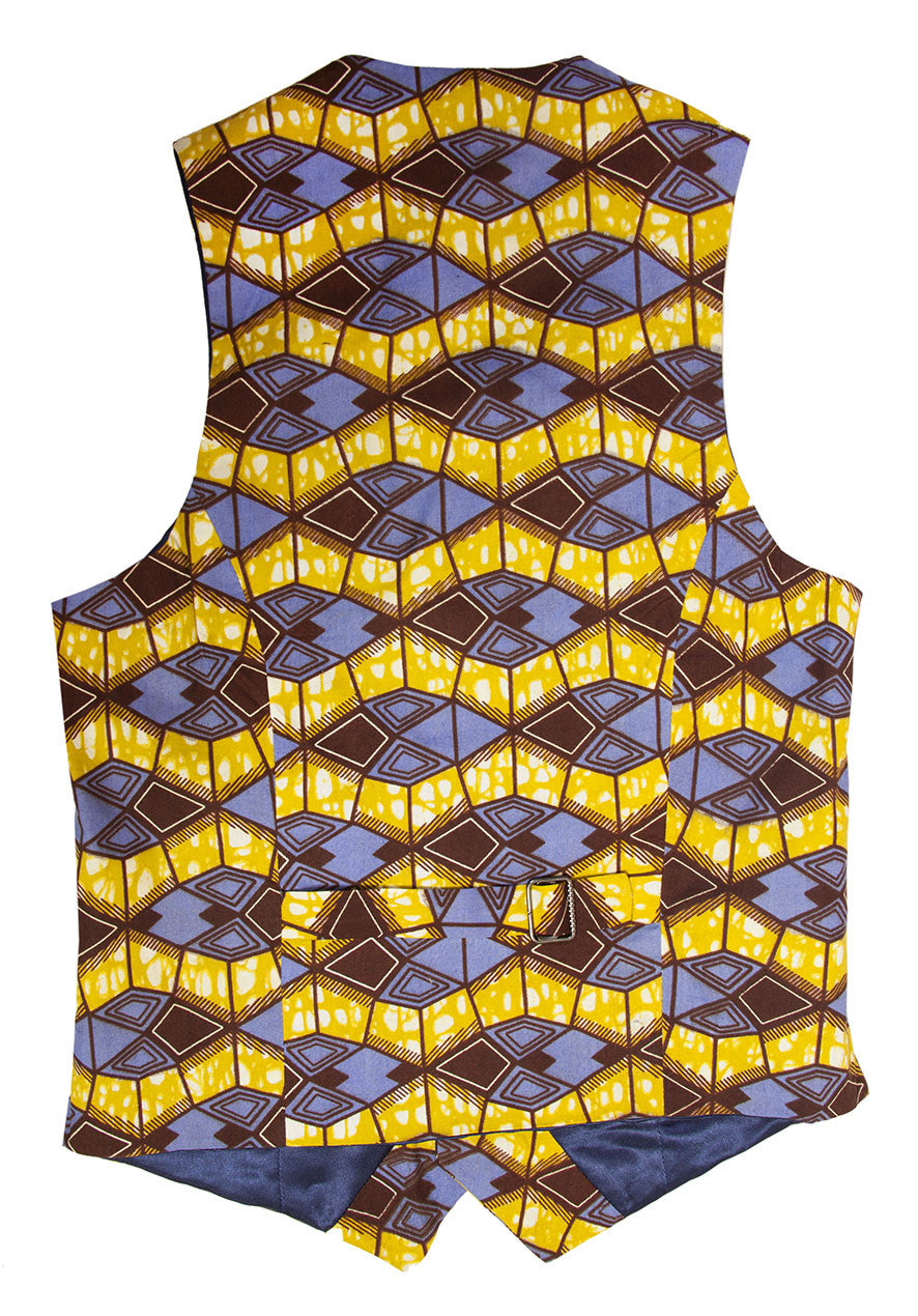 'Azzme' Men's waistcoat - OHEMA OHENE AFRICAN INSPIRED FASHION  - 2