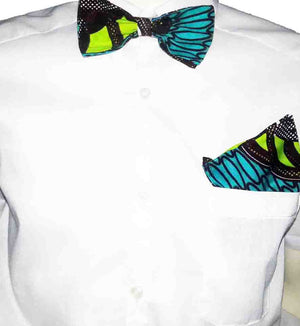 African Print Men's Bow Ties- Greenland - OHEMA OHENE AFRICAN INSPIRED FASHION