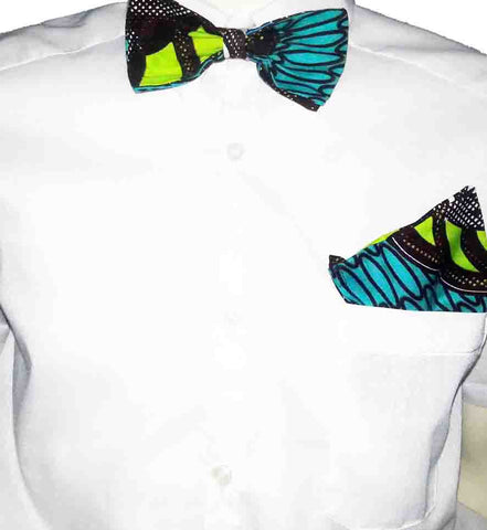 African Print Men's Bow Ties- Greenland