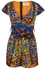 Cecile African mix print playsuit - OHEMA OHENE AFRICAN INSPIRED FASHION  - 1