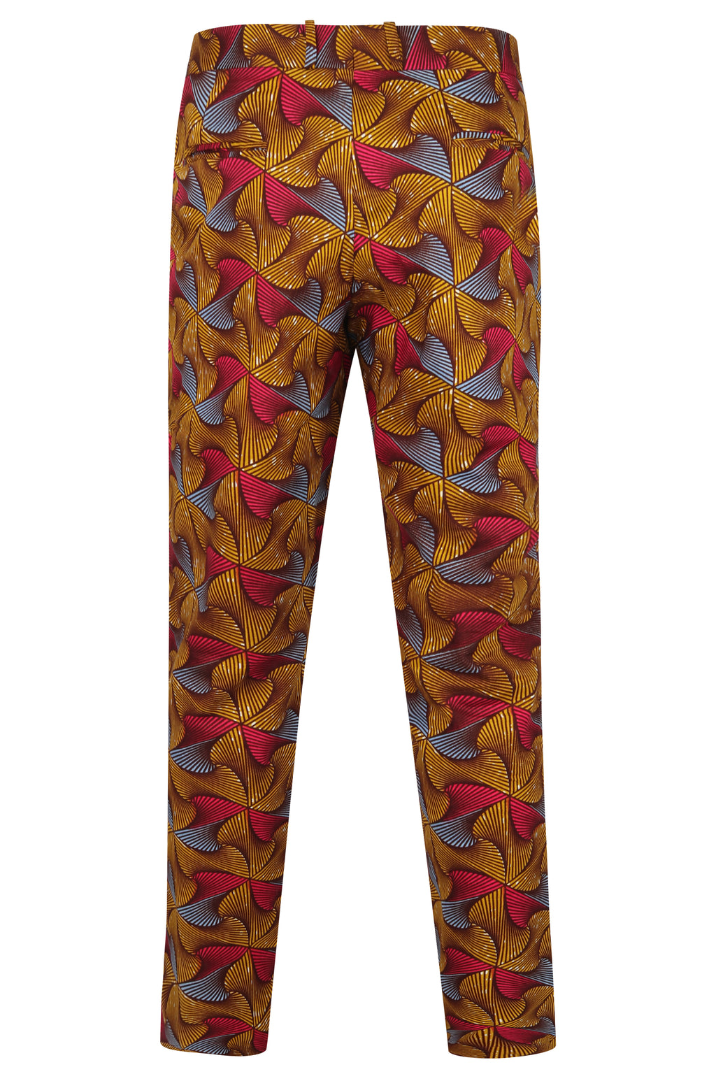 Men's African print Fitted trousers-Crossways