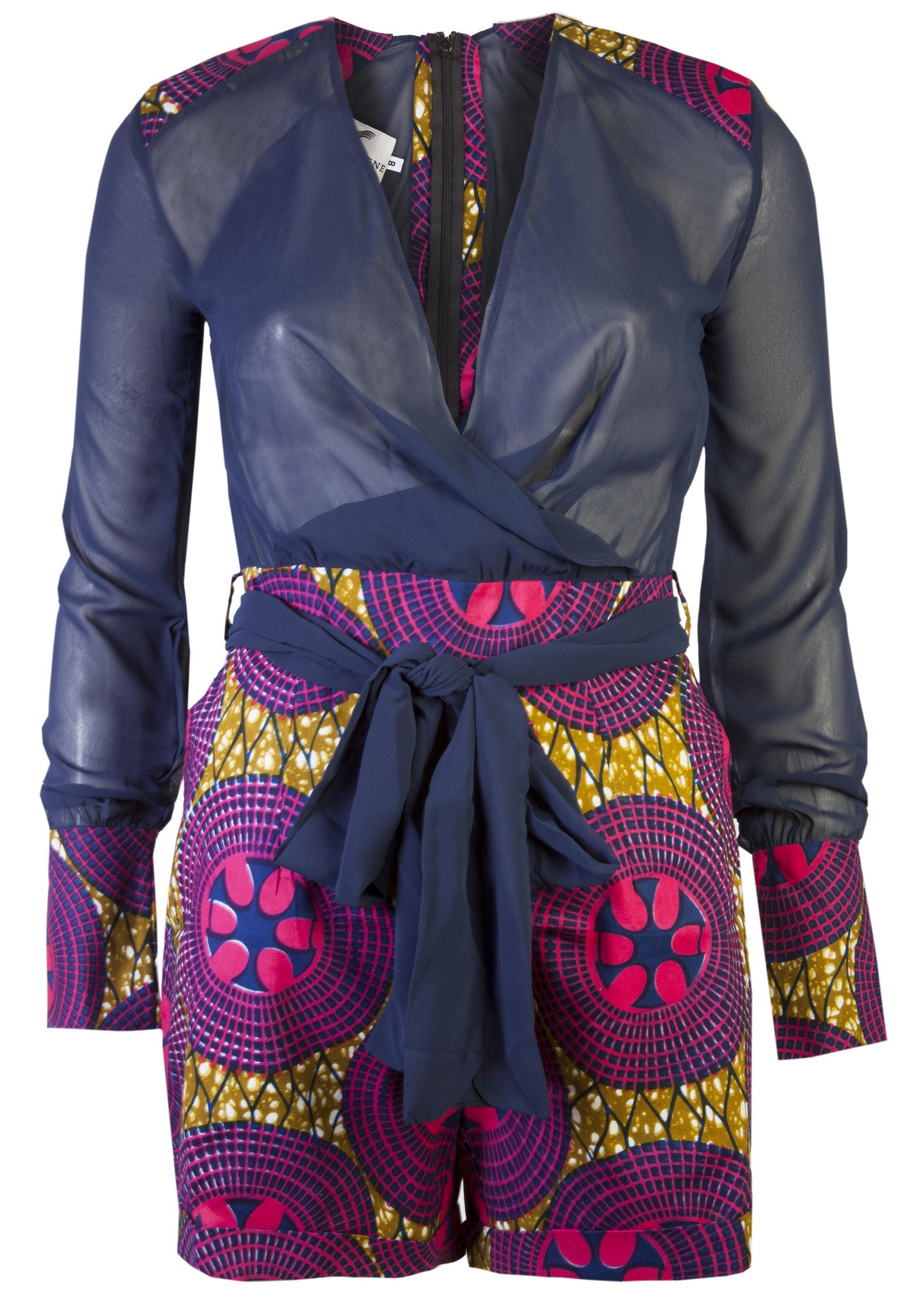 Evelyn- African print playsuit - OHEMA OHENE AFRICAN INSPIRED FASHION  - 1