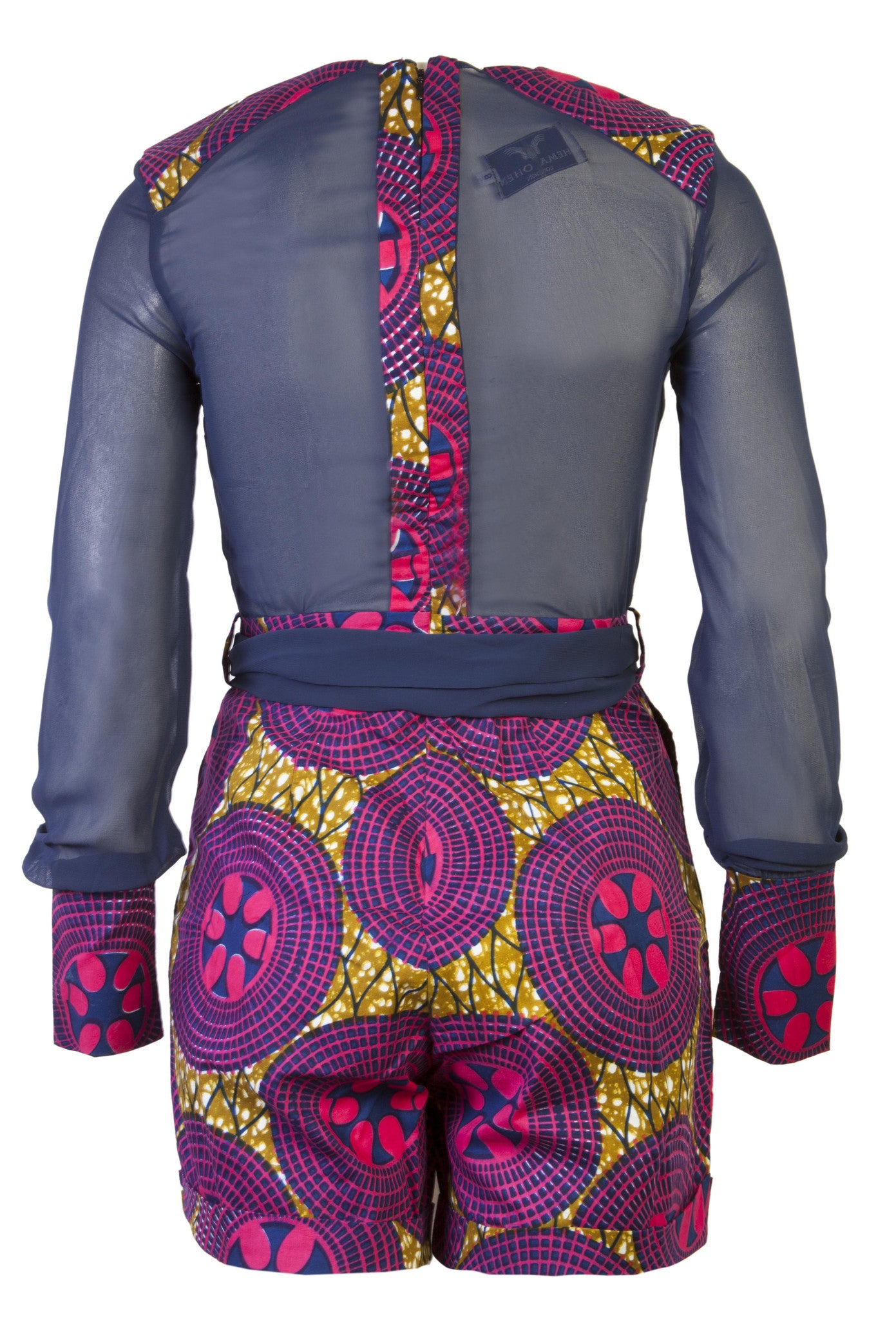 Evelyn- African print playsuit - OHEMA OHENE AFRICAN INSPIRED FASHION  - 2