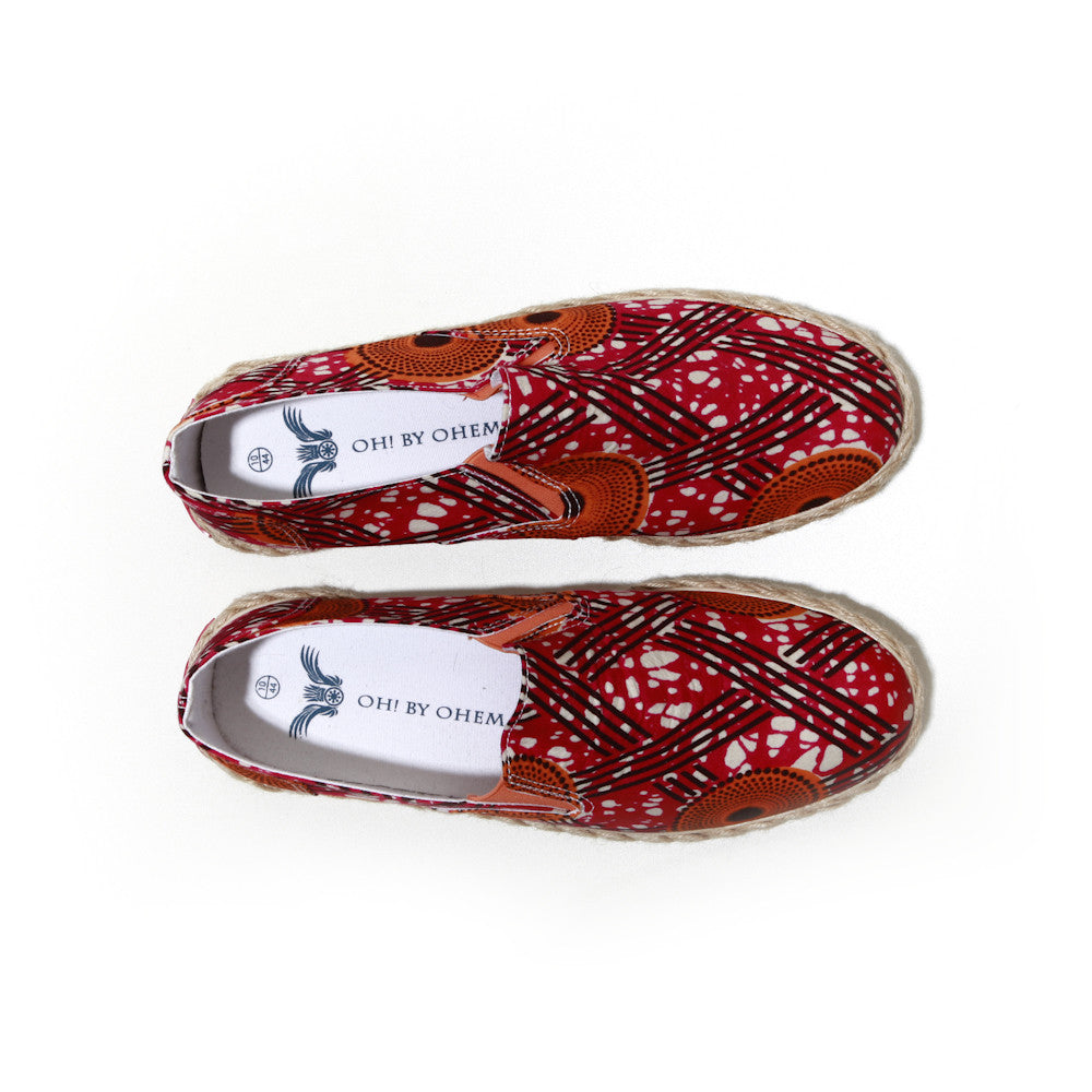 African print espadrille-Oh! Sam Hot Star - OHEMA OHENE AFRICAN INSPIRED FASHION  - 2