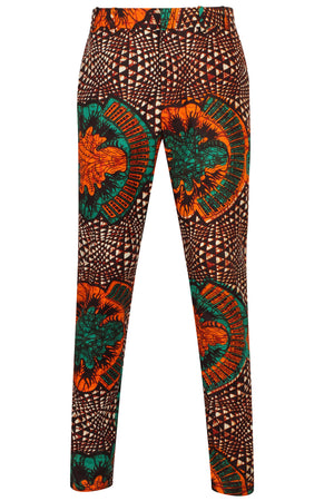 Greenleaf African print Mens Fitted trousers