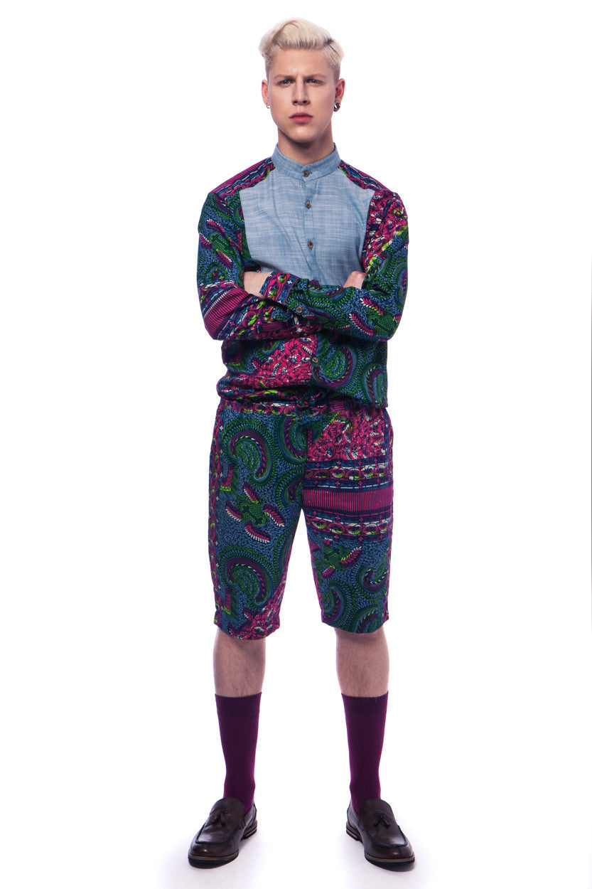 Alex Men's onesie - OHEMA OHENE AFRICAN INSPIRED FASHION  - 1