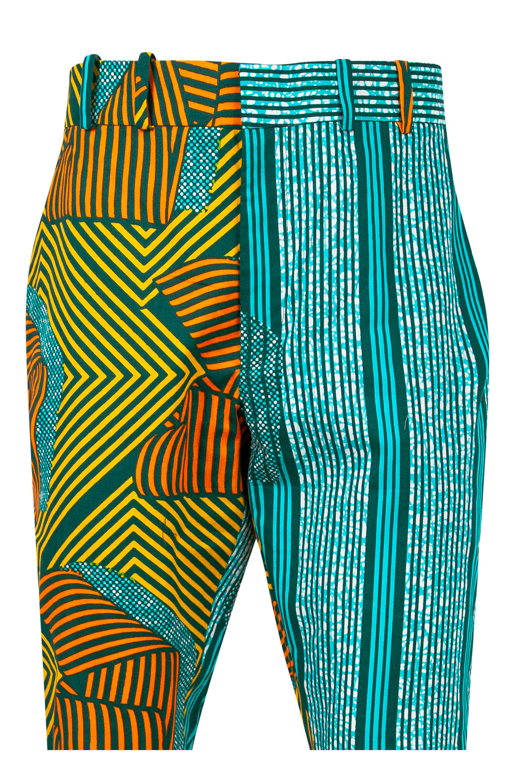 Jamie Men's African print fitted shorts-Asso