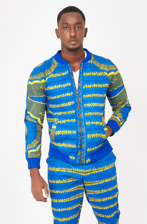 Joe African print Bomber Jacket-Spider Web