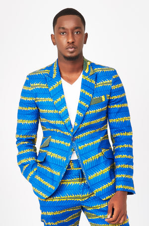 Men's African print blazer Love Web Ohema Ohene FT