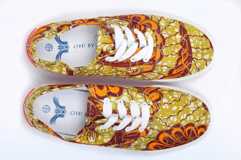 King Prawn Afrian Print Canvas Sneaker