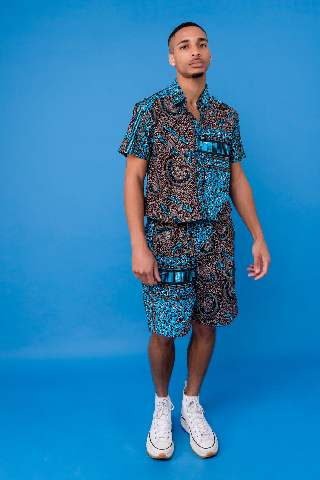 Men's African print Shorts Jumpsuit