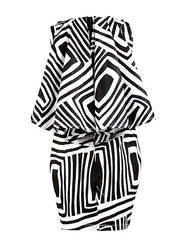 Laura Black & White cape dress - OHEMA OHENE AFRICAN INSPIRED FASHION  - 2