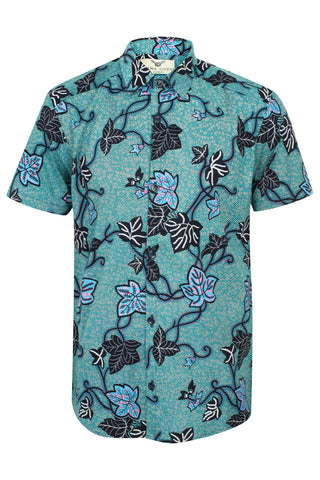 Short sleeve African print shirt