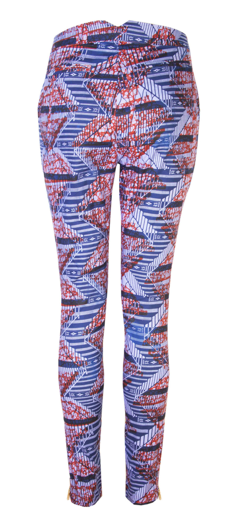 Libby African print trousers- Ladder - OHEMA OHENE AFRICAN INSPIRED FASHION  - 2