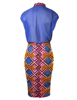 Martha African print shirt dress - OHEMA OHENE AFRICAN INSPIRED FASHION  - 2