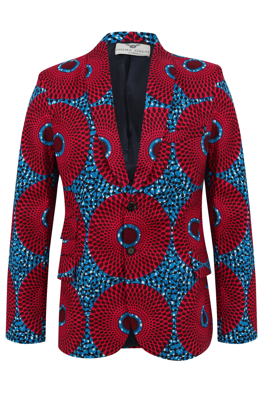 Men's 2 button Nsubra 'Water well'  African print Blazer