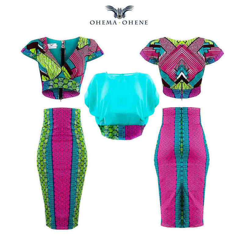 Joelle chiffon crop top - OHEMA OHENE AFRICAN INSPIRED FASHION  - 3