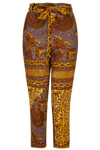 Women's African print trousers Ohema Ohene