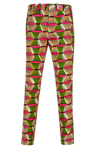 Men's African print trousers Ohema Ohene