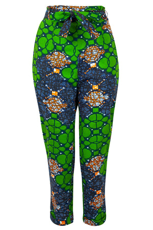 Doreen African print trousers- Waterleaf