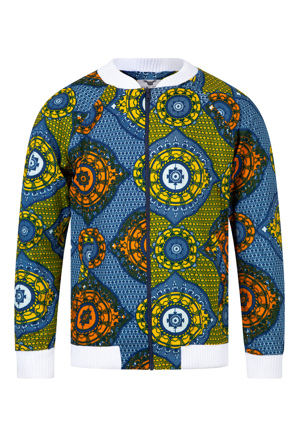 African print bomber jacket