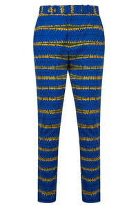 Osei Men's African print fitted trousers-Spider Web