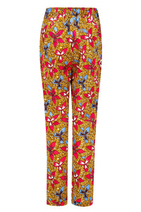 African print cigarette trousers- Doreen