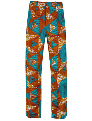 Mens african print cropped trouser