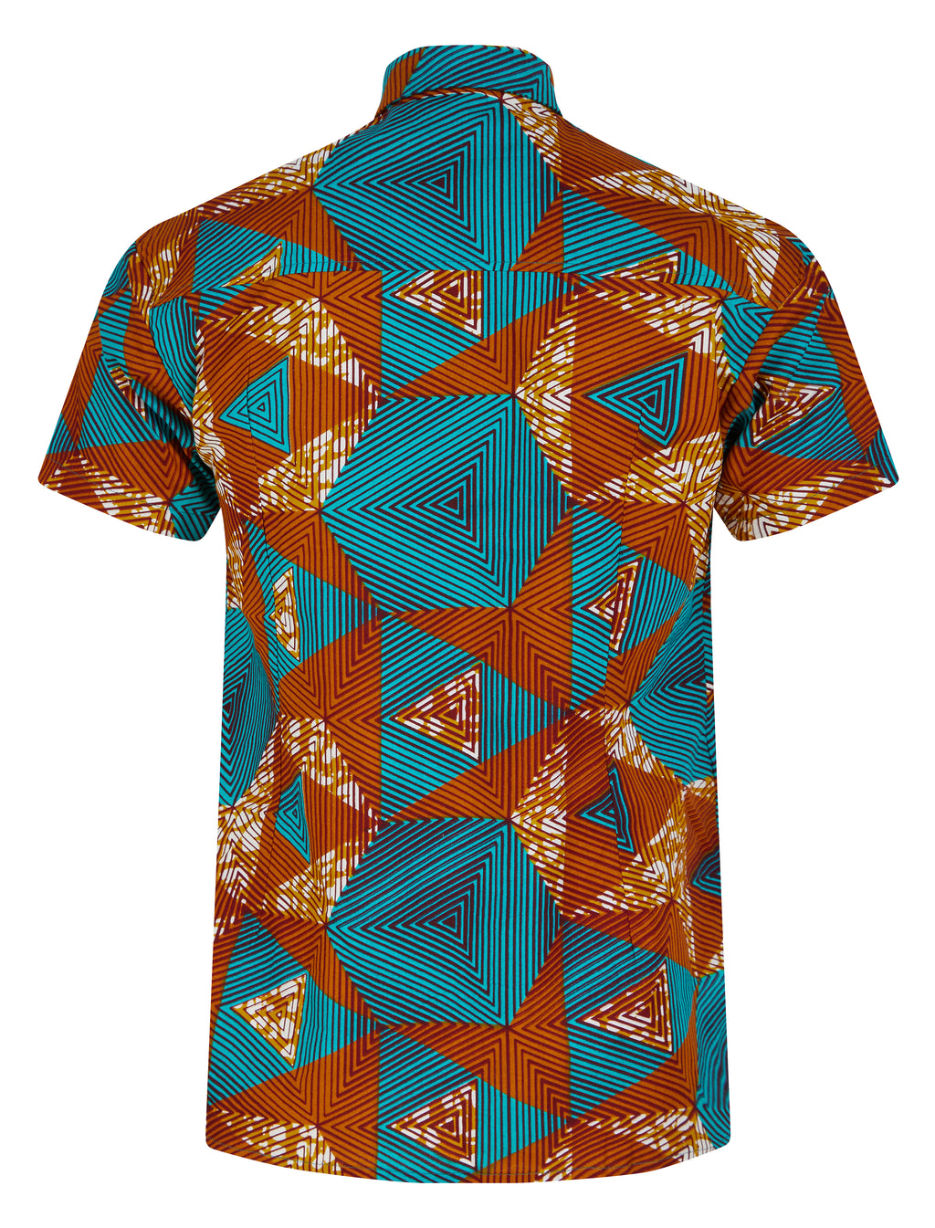 Men's SS African print shirt- Labyrinth