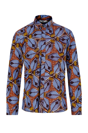 Long sleeve Tiger Lily African print shirt