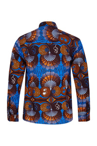 Luca Long sleeve African print shirt