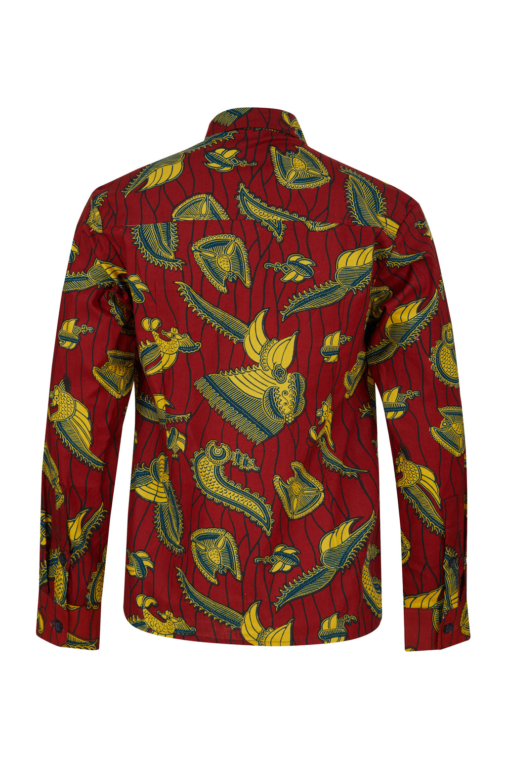 Asante Long sleeve African print shirt- Golden Goose