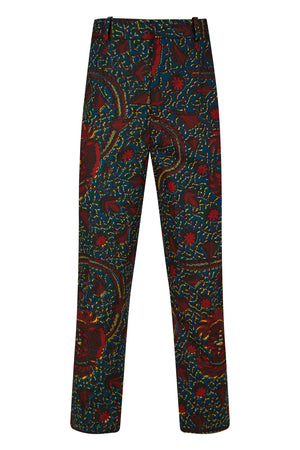 Jonny African print cropped leg-Rooster