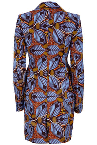 Jacqui African print blazer dress-Tiger Lily