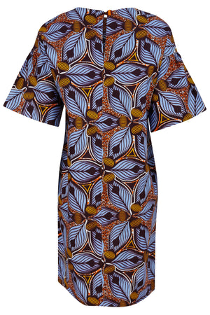 Gigi Belt front T Shirt Dress Tiger Lily