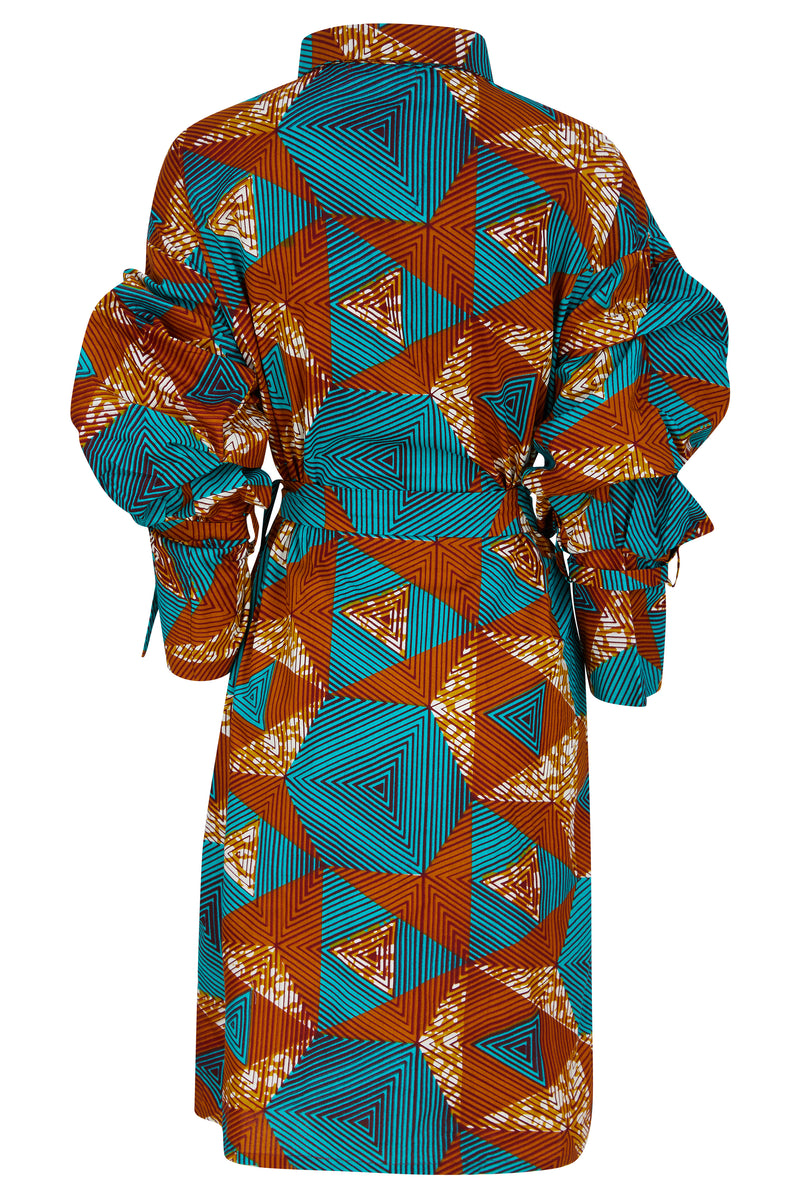African print shirt dress Ohema Ohene