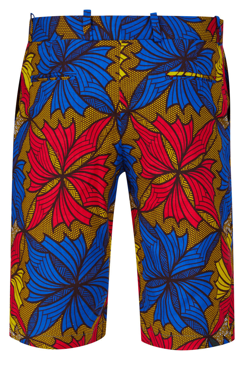 Jamie African print shorts-3D Floral
