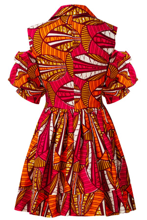 Abigail African print skater dress