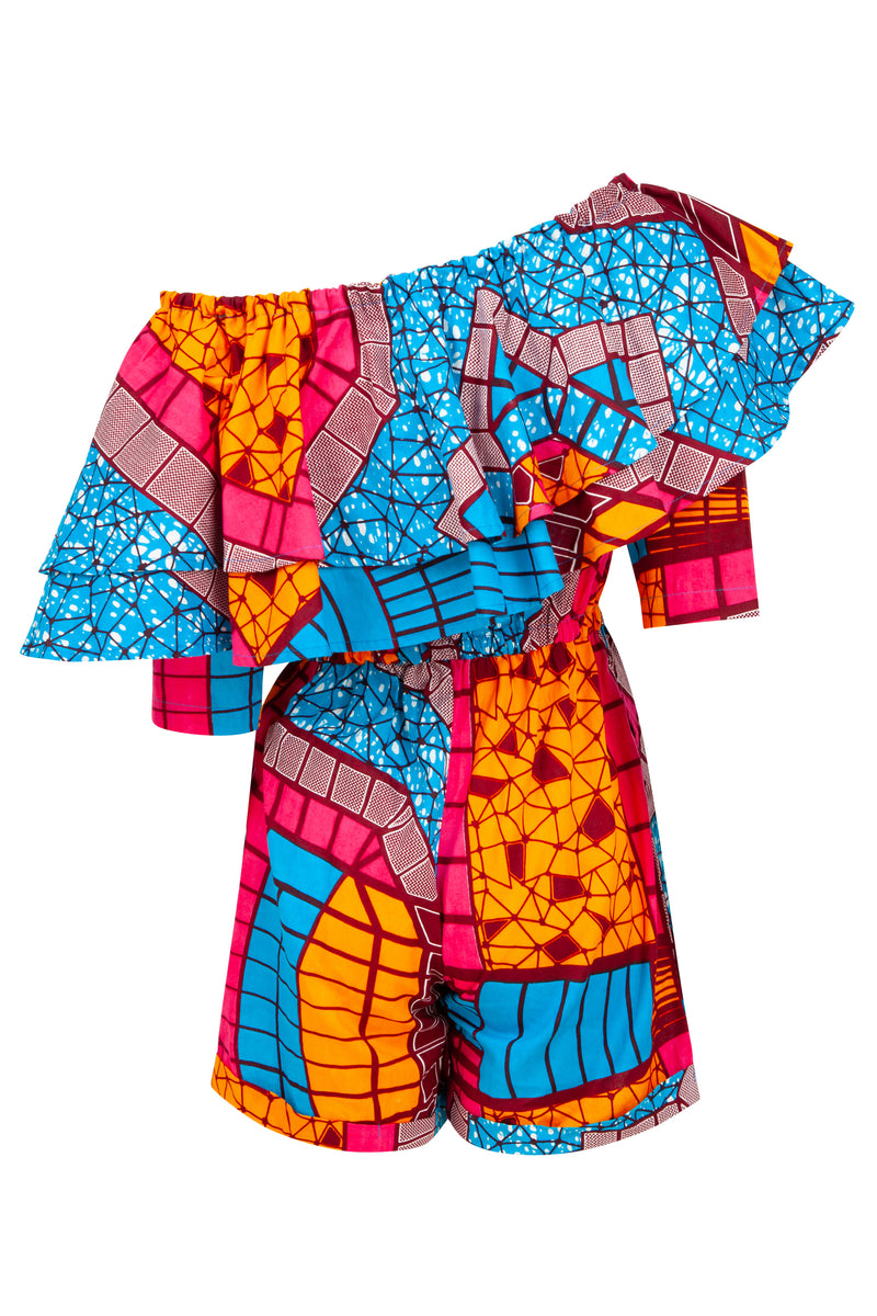 African print playsuit ohema ohene