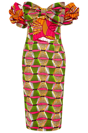 African print bodycon dress ohema ohene
